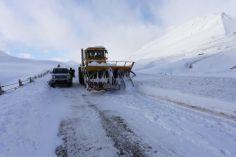 თოვლისა და ლიპყინულის გამო, გზის რამდენიმე მონაკვეთზე სპეციალური რეჟიმებია დაწესებული