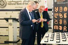 ეროვნული ბანკის ახალი მონეტა ფრანკფურტის წიგნის ბაზრობას მიეძღვნა